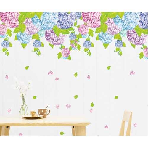 Giấy dán tường Giấy decal cuộn dây leo hoa tím
