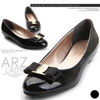 Giày đế thấp ARZ mũi đính nơ - 3 cm
