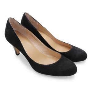 Giày đế thấp bít mũi 5cm Gosto màu đen-GS0000222BLK