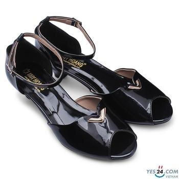 Giày đế thấp Huy Hoàng 3cm màu đen HH7006