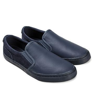 Giày lười nam da bò mix da lộn Sutumi M138A1
