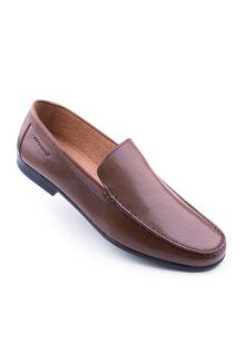 Giày mọi Summer màu nâu viền chỉ Stonefly