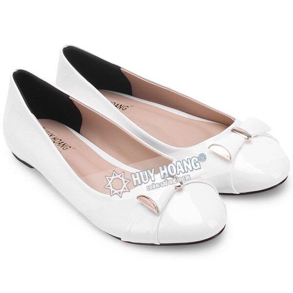 Giày nữ Huy Hoàng đế bệt màu trắng HH7004