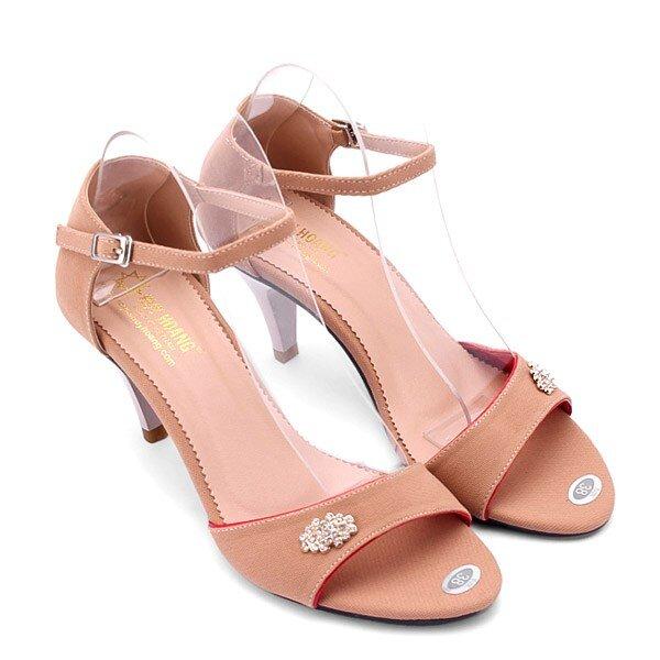 Giày sandal cao gót Huy Hoàng HH7060
