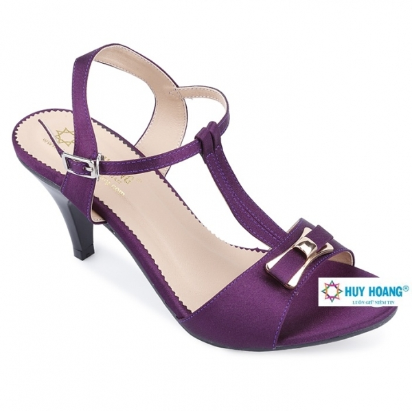 Giày sandal cao gót Huy Hoàng màu tím HH7054