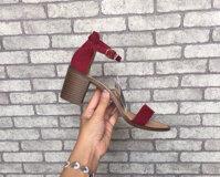 Giày sandal gót thô quai ngang Zara 0603