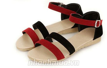 Giày sandal nữ chất nhung