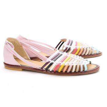 Giày sandal quai rọ dây 7 màu Senta D101