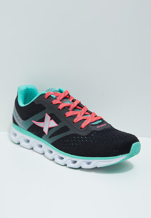 Giày thể thao nữ Xtep đen phối xanh 984218116068-1