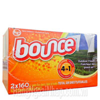 Giấy thơm quần áo Bounce 4 in 1 - 160 tờ