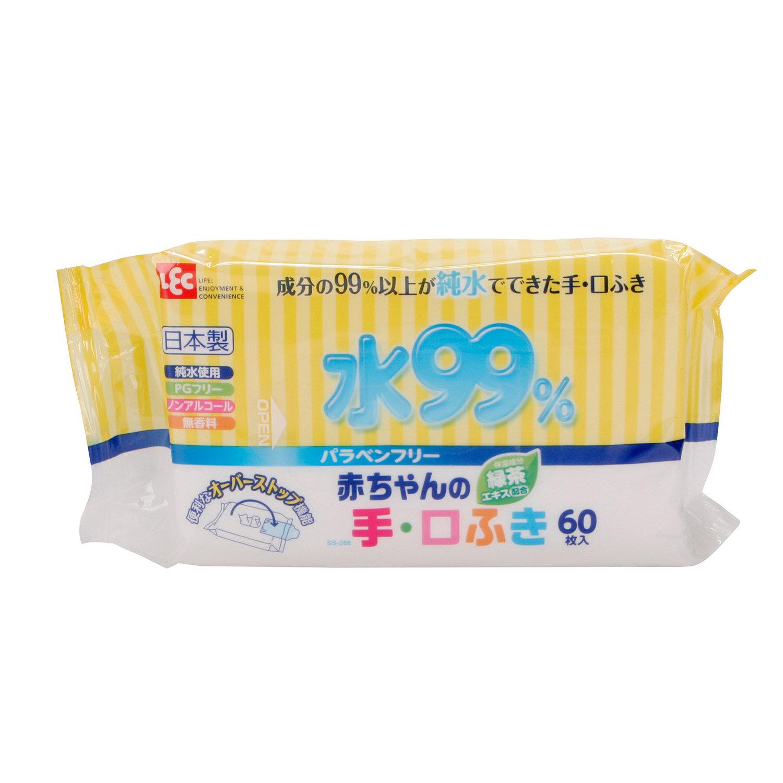 Giấy ướt LEC nước tinh khiết 99% cho tay và miệng SS268 60 tờ