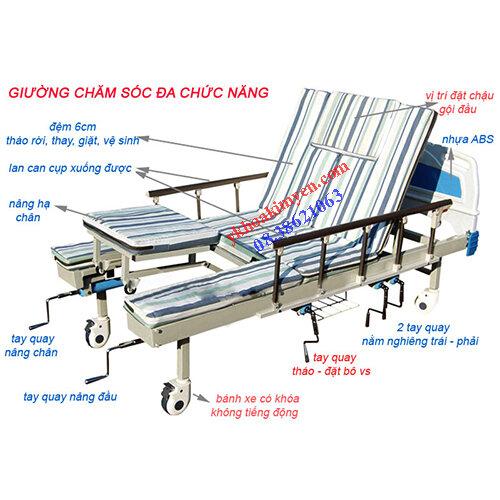 Giường bệnh nhân 5 tay quay DCN-2A