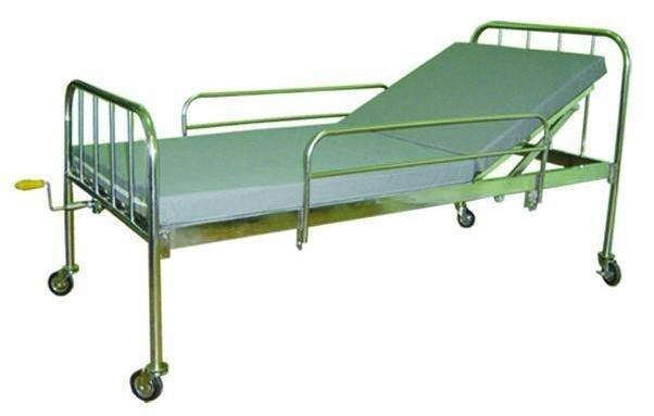 Giường bệnh nhân inox 1 tay quay