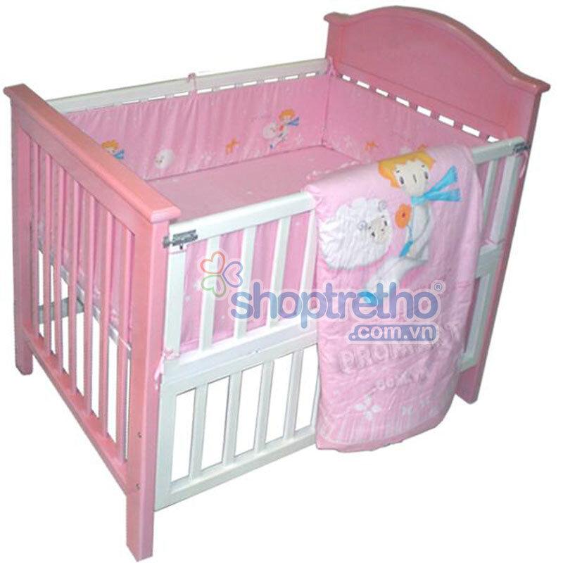 Giường cũi cho em bé 2 trong 1