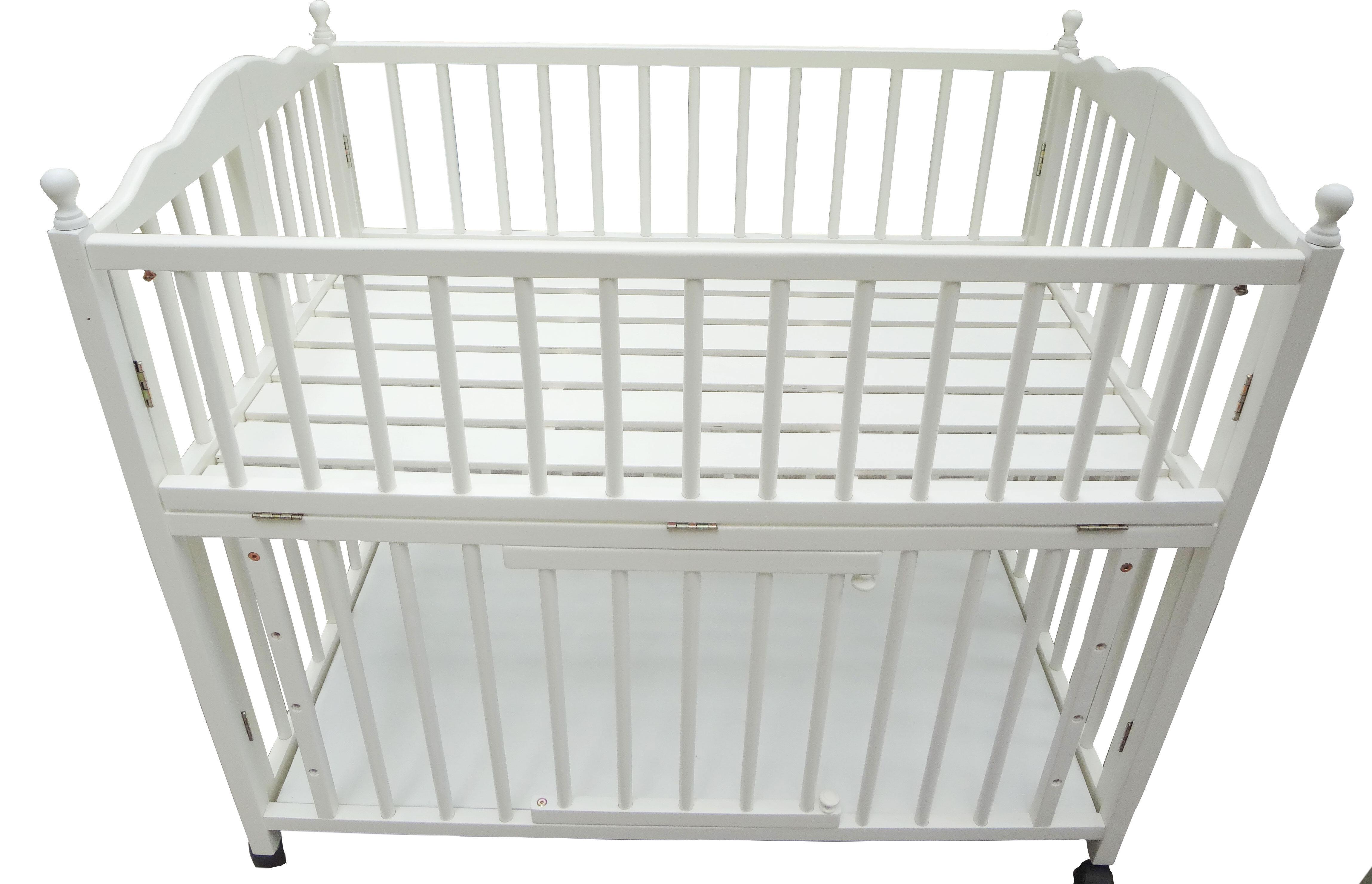 Giường cũi trẻ em xuất khẩu Kiza White