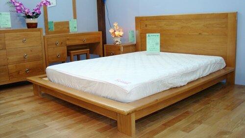 Giường gổ sồi kiểu Nhật - 1m8