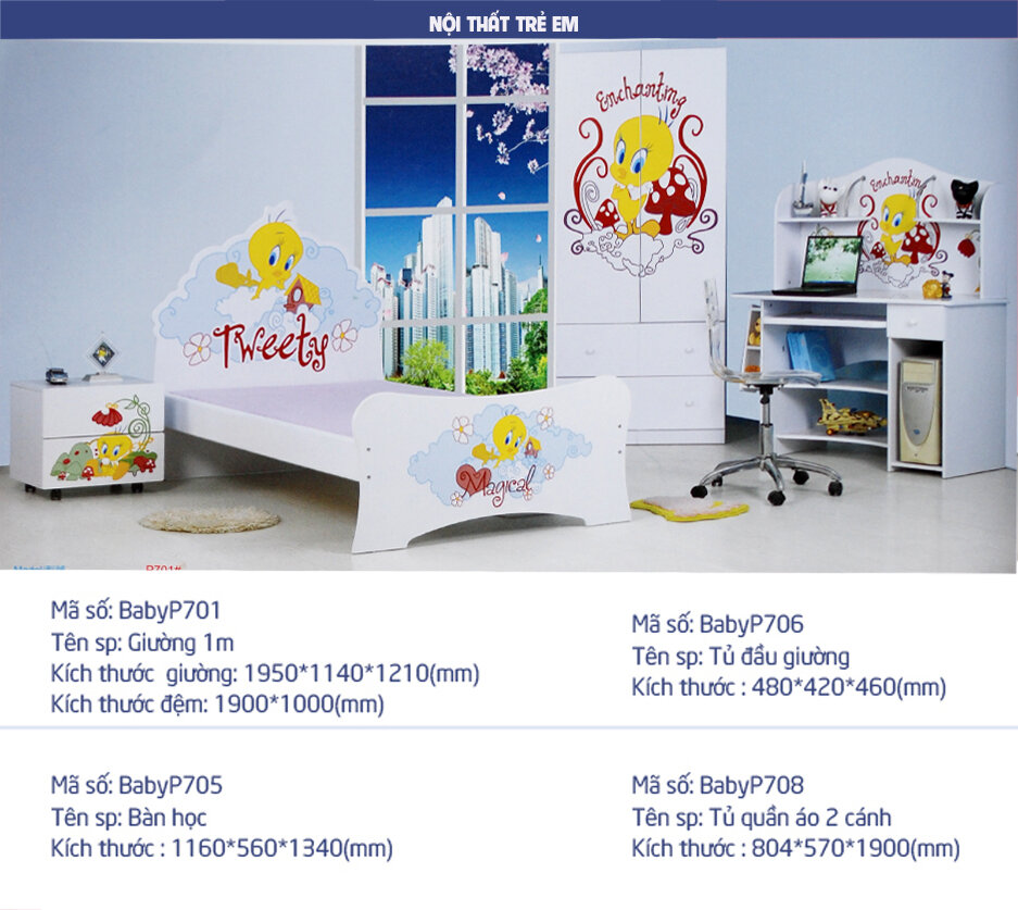 GIƯỜNG NGỦ CÔNG CHÚA BABY P701