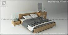 Giường ngủ Gỗ veneer Sồi Mỹ GGS10