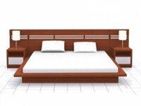 Giường Ngủ Kiểu Nhật Hiện Đại Gỗ Xoan Đào 1m6 GN372