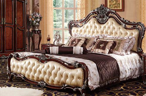Giường ngủ kiểu pháp chất liệu gỗ sồi OAK RA808G