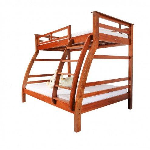 Giường tầng Lam Sơn 1014B.GT - KT đệm 100/140cm x 200cm, màu nâu