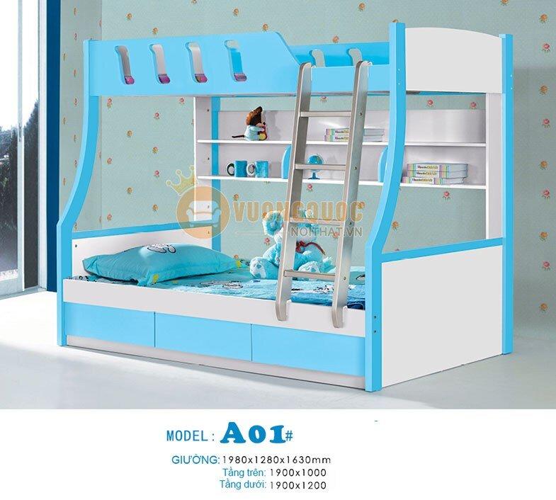 Giường tầng xanh dương Baby BLA01