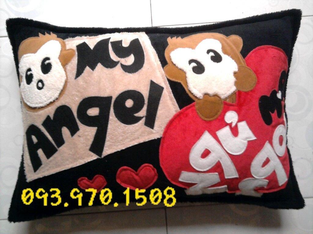 """Gối tình yêu 35x50(cm) """"My Angel""""-GCN082"""
