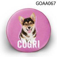 Gối tròn Chó Cogri - GOAA067
