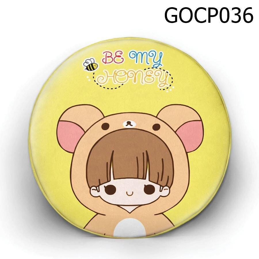 Gối tròn Cô bé gấu nâu - GOCP036