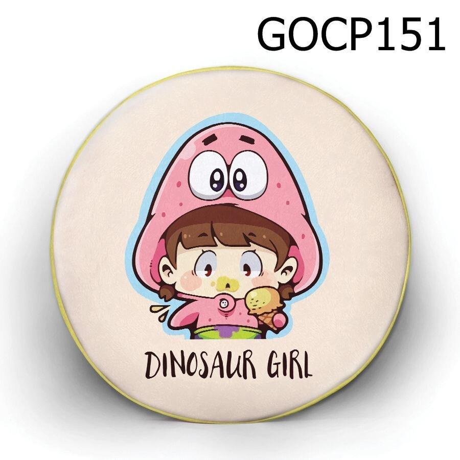 Gối tròn Cô bé khủng long - GOCP151