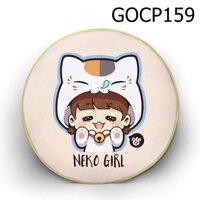 Gối tròn Cô bé mèo - GOCP159