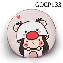 Gối tròn Cô bé tuần lộc - GOCP133