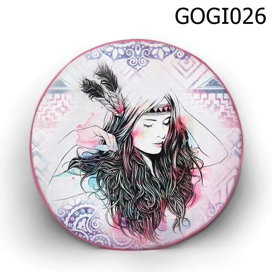 Gối tròn cô gái thổ dân - GOGI026