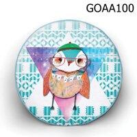 Gối tròn Cú đội nón berret - GOAA100