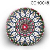 Gối tròn lá xếp hình tròn - GOHO048