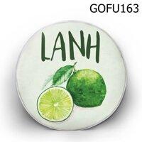 Gối tròn Lanh chanh - GOFU163