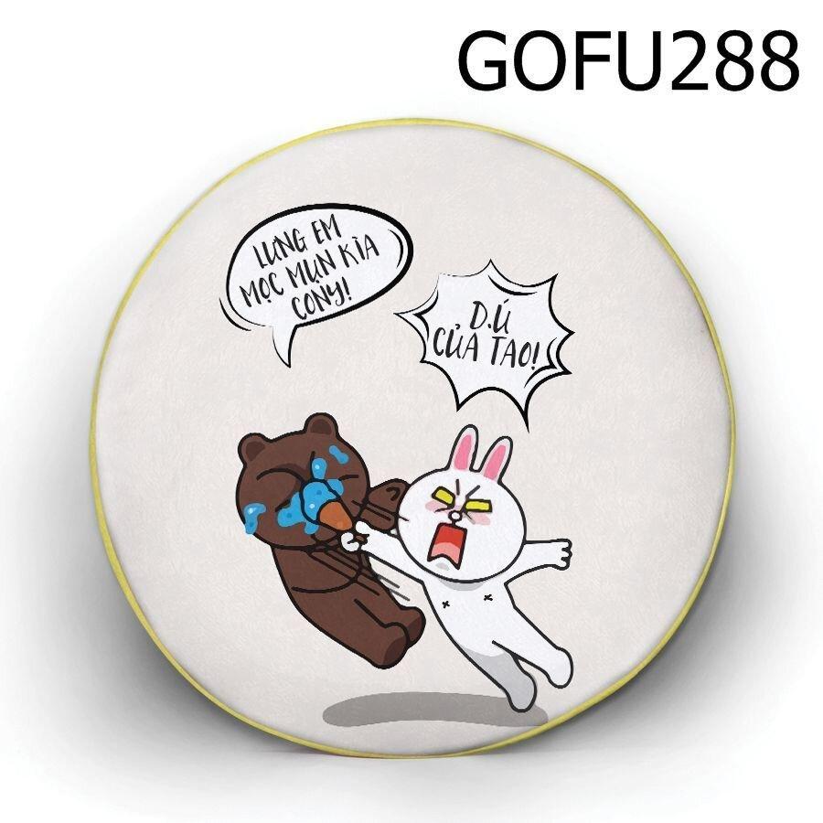 Gối tròn Lưng em mọc mụn kìa - GOFU288