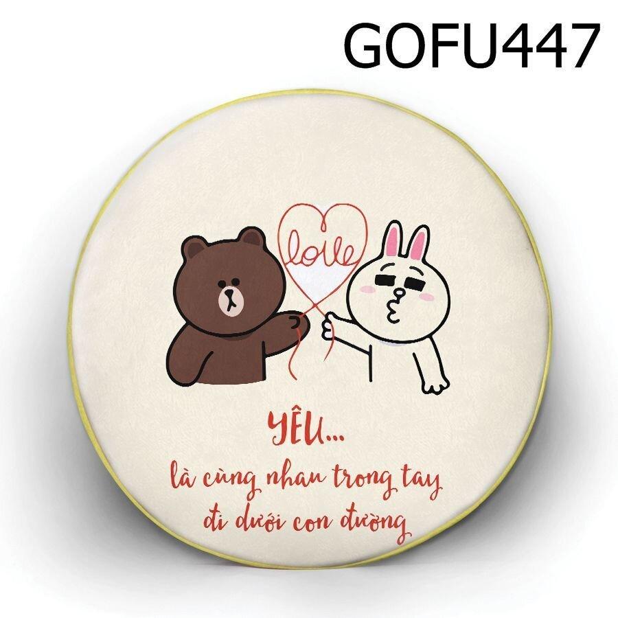 Gối tròn Yêu - GOFU447
