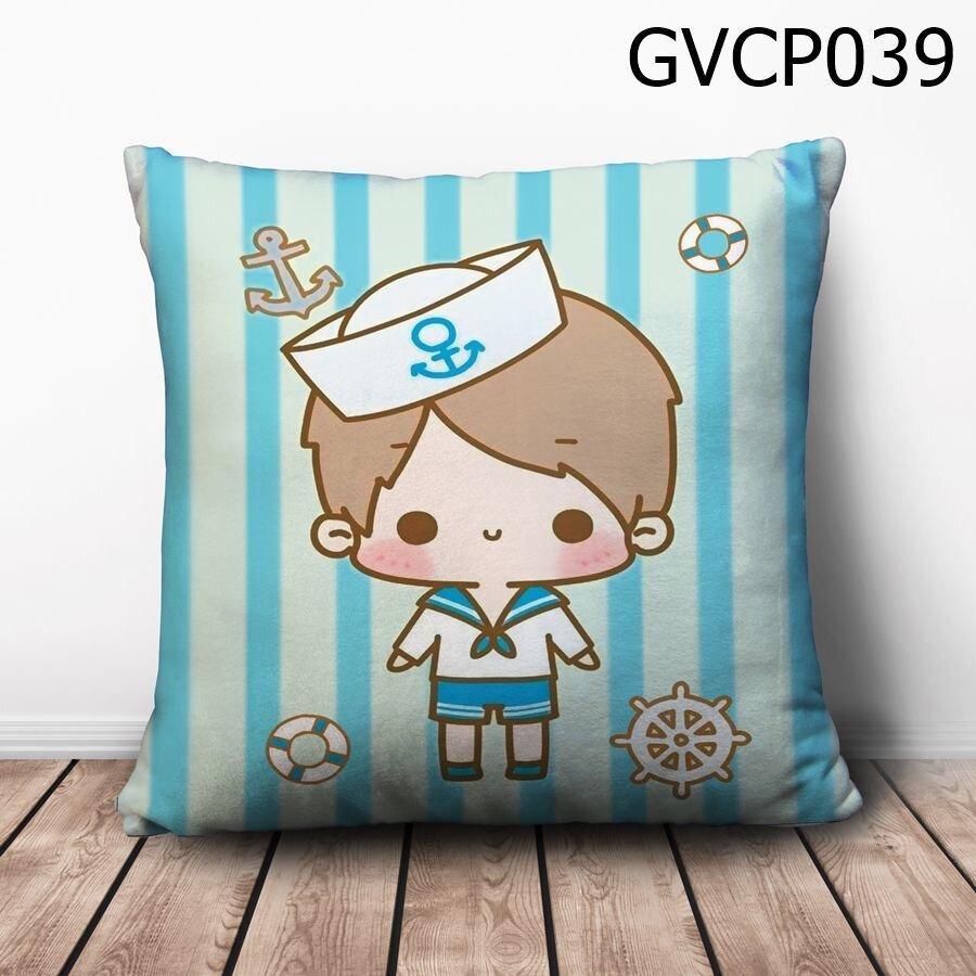 Gối vuông Cậu bé thuỷ thủ - GVCP039