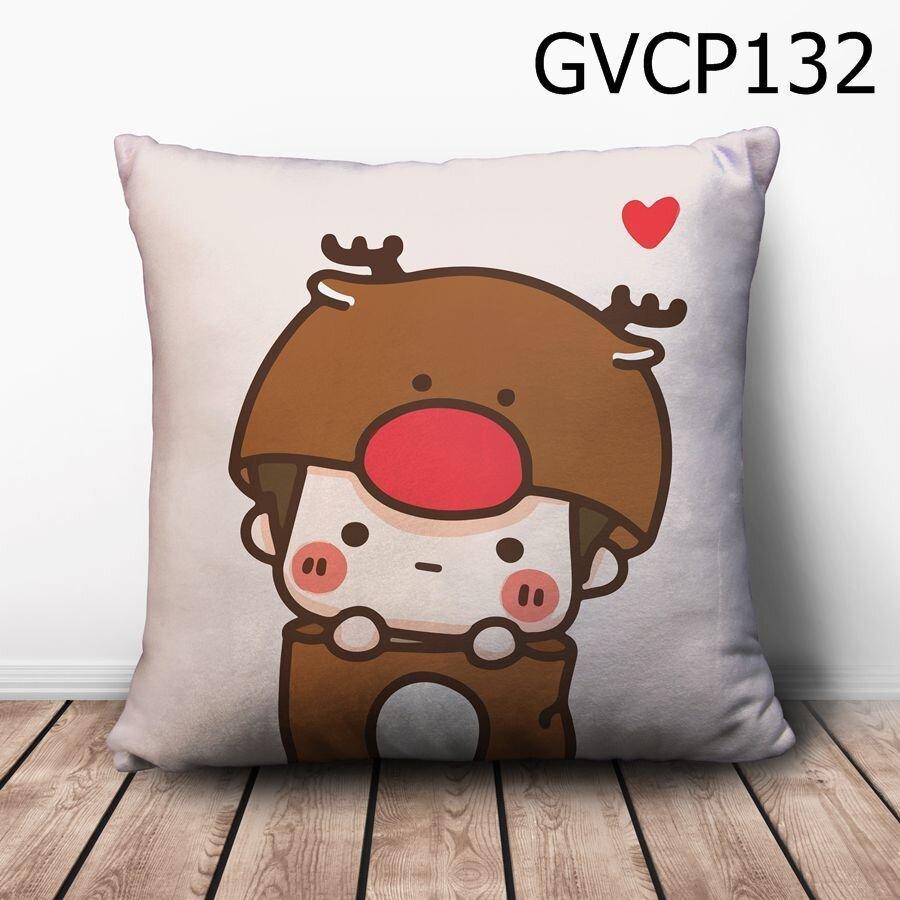 Gối vuông Cậu bé tuần lộc - GVCP132