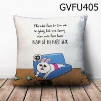 Gối vuông Chỉ cần bạn tự tin - GVFU405