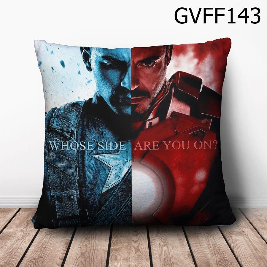 Gối vuông Civil War xanh đỏ - GVFF143