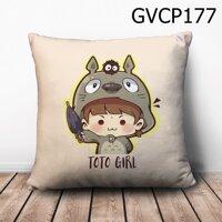 Gối vuông Cô bé Totoro - GVCP177