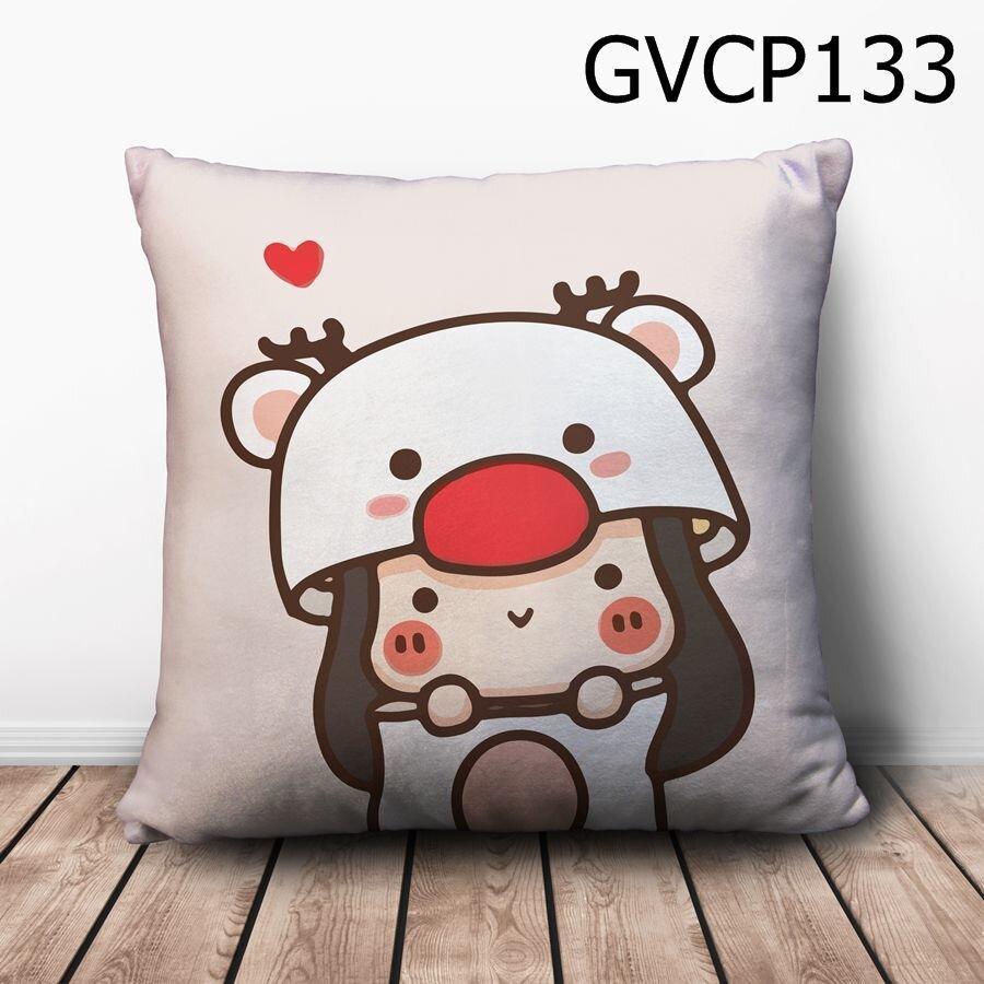 Gối vuông cô bé tuần lộc - GVCP133