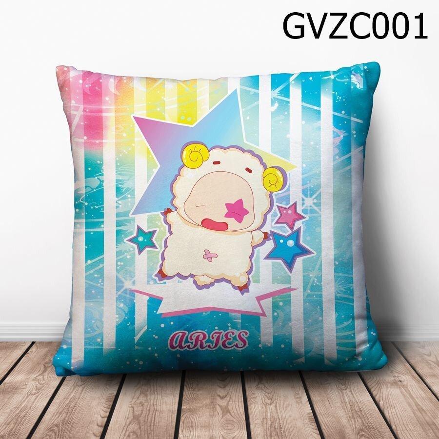 Gối vuông Cung bạch dương chibi - GVZC001