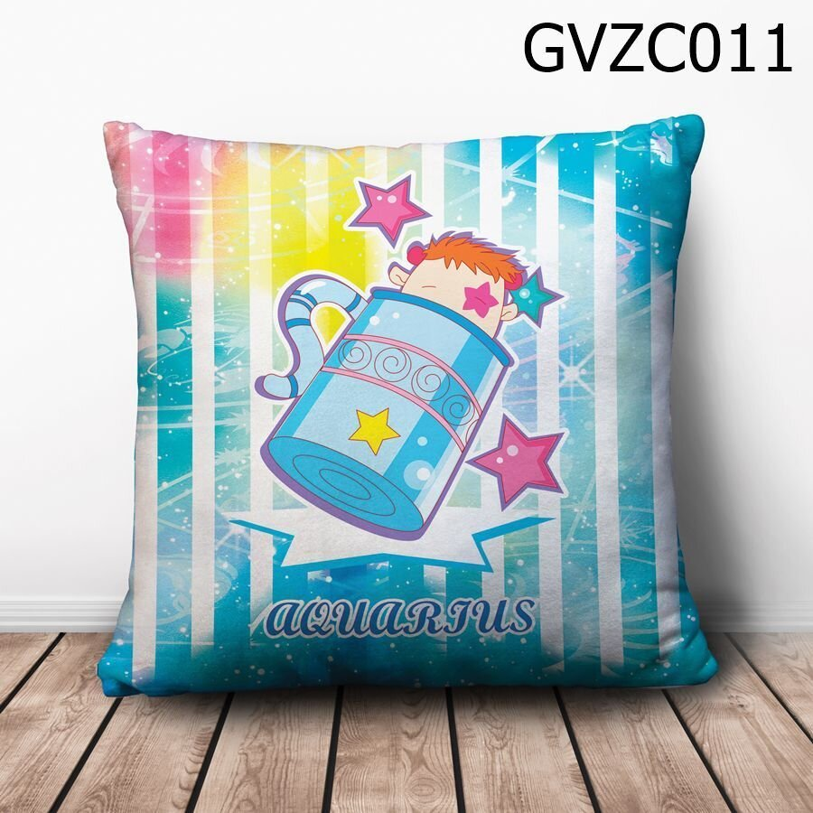 Gối vuông Cung bảo bình chibi - GVZC011