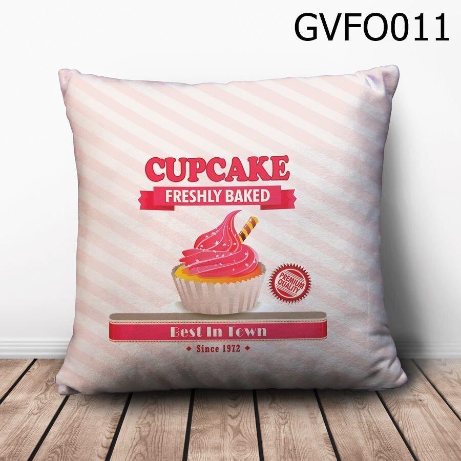 Gối vuông Cupcake Freshly Baked - GVFO011