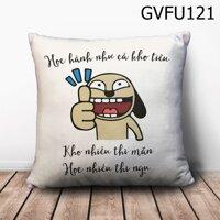 Gối vuông học hành như cá kho tiêu - GVFU121