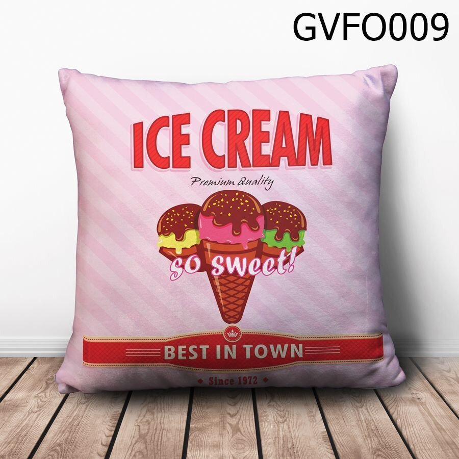 Gối vuông Ice Cream so sweet - GVFO009