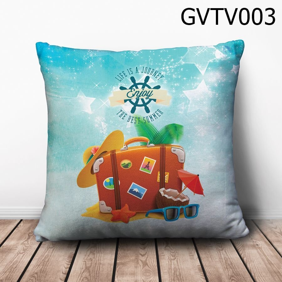 Gối vuông Life is a Journey - GVTV003